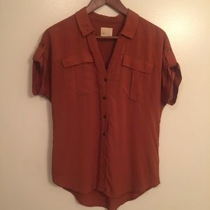 Rust colored military style shirt